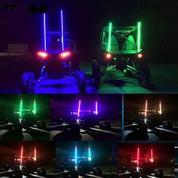 farol corolla Desconto flag LED de luz ambiente luz de advertência luz traseira de LED do pólo de bandeira de Segurança Antena chicote Luzes para Sand Buggy UTV ATV Truck para jeep
