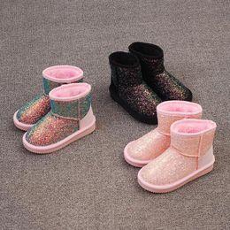 Winter 2018 new children s snow boots Girls Boots Winter Shoes girl Kids  Beetle Boots Children Glitter Shoes discount fur children boot ef078b04b8bf