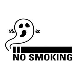 Argentina No Fumar Fantasma Calcomanía de Vinilo Etiqueta Anti-fumar Divertido Personalidad Accesorios Decorativos Embalaje cheap smoke package Suministro