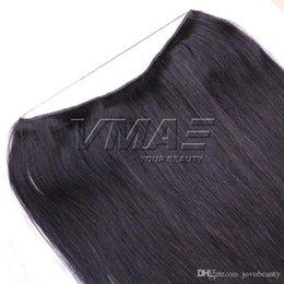 Человеческий волос флип-ореол онлайн-Бразильский Halo Flip В наращивание человеческих волос прямой натуральный цвет 100 г 120 г 140 г 160 г 18-22 дюймов Halo Virgin Hair