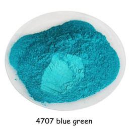 Ombres à paupières vertes en Ligne-500gram bleu vert couleur poudre cosmétique perle poudre de poussière de pigment mica perle pour DIY ongles polonais et maquillage fard à paupières, rouge à lèvres
