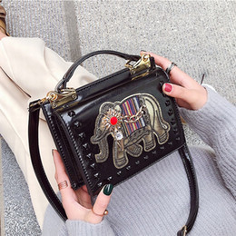 d1bc6dd6b0f9 brown christmas gift bags Australia - handbag leather elephant decoration  designer handbags black women handbag luxury