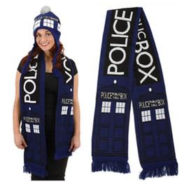 2019 casella di tardis Dr Doctor Who Cosplay Sciarpa Tardis 8' pubblica chiamata Blue Box Neckchief sciarpa dell'involucro Halloween Carnival età Donne Uomini casella di tardis economici