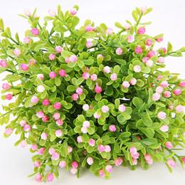 Canada Fleur Artificielle 5 fourchettes Milan Orchidée Plante En Plastique Bouquet De Haute Qualité pour la Maison De Mariage Jardin Décoration Extérieure Faux Fleur Offre