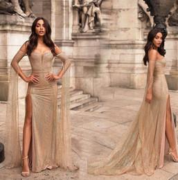 2019 robes de nuit élégantes Femmes D'été Sexy Robes De Soirée Robe De Soirée Élégante Moulante Maxi Robe Maxi De Split Robe Longue De Bal Robes promotion robes de nuit élégantes
