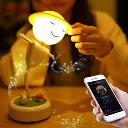 Altoparlante della lampada della luce del sensore di tocco online-My Little Illuminazione per interni Cartoon Touch Sensor Spaventapasseri LED Lampada da comodino per altoparlanti Bluetooth JK0147