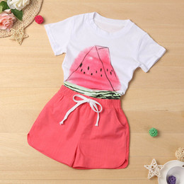 15d31c214d43 Toddler Kid Baby Girl Small Watermelon Shirt+Shorts Clothes Outfit 2PCS Set