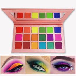 2020 helle lidschatten palette make-up Sommer Bunte Lidschatten-Palette Matt 18 Farben Schimmer Mischbar Helle Lidschatten Pallete Silky Powder Pigmented Makeup Kit günstig helle lidschatten palette make-up