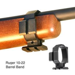 Montage sur rail en Ligne-Bande tactique de canon pour Ruger 10/22 Deux rails Picatinny Sling Slot Expand Accessoires de montage noir