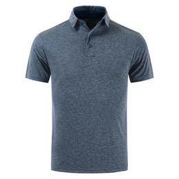 мужские гольф-поло Скидка Мужская футболка с коротким рукавом с короткими рукавами Тонкий спортивный мужской дизайнерский футбол Polos Golf Твердые мужские топы Мужская одежда