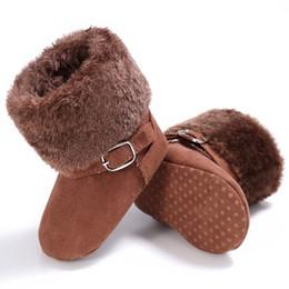Canada Élégant Unisexe Neige Enfants Bébé Filles Garçons Hiver Belle Chaud Style Polaire Bottes Antidérapantes Cack Chaussures Nouveau cheap crochet baby girl snow boots Offre