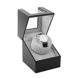Argentina UE REINO UNIDO EE. UU. UA Organizador de Almacenamiento Cofre Display Motor Shaker Holder Mecánico Automático Watch Winder = Winding Case Holder 2019 cheap uk cases Suministro
