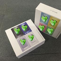 Écouteurs personnalisés en Ligne-Macaron sur mesure Inpods12 Tws touche de couleur mat stéréo Bluetooth 5.0 EDR dans l'oreille tactile sans fil écouteur du casque d'écouteurs pour le sport en plein air