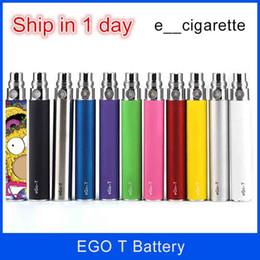 Dhl que emite cigarros eletrônicos on-line-Os cigarros eletrônicos Ego t bateria 1100mAh 650mAh 900mAh para E Kit Cigarros E-cig Frete grátis DHL