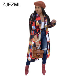 2019 trenchcoat femme Geometrische Umlegekragen Sexy Slim Trench Frauen Winter Langarm Paneled Kausalen Langen Mantel Femme Club Button Up Mantel günstig trenchcoat femme