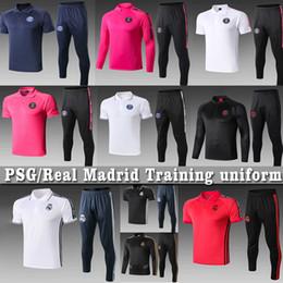Футбольные куртки онлайн-Icardi 2020 Мужчины Реал футбол наборы PSG куртки полной молнии костюм ОПАСНОСТЬ maillots де BALE футбол Mbappé тренировочную форму