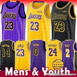 7a5f56b91c2 LeBron 23 James Jersey Kyle 0 Kuzma Men Youth 2019 Los Angeles James Lonzo  2 Ball Brandon 14 Ingram Kobe 24 Bryant The City kyle kuzma jersey on sale