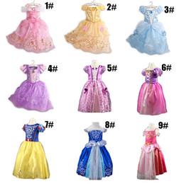 2019 chicas tutu blanco como la nieve 2019 Girls Summer Dress Kids Cindrella Snow White Cosplay Baby Girl Princess Dress Rapunzel Aurora Belle Vestido Vestidos rebajas chicas tutu blanco como la nieve