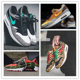 zapatilla de tela de arcoiris Rebajas 2020 NIKE AIR MAX 90 Atmos 1s 90s Shoes Trainers Atmos Animal Pack 3.0 Elephant Bred Print airmax 90 Reverse Duck Camo Sports Designer Sneakers