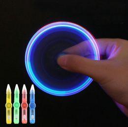 Werbegeschenk freie Geschenke preiswerter heißer Plastikverkauf Neue Produkte kreative Multifunktion drei in einem ABS Handspinner der Kinder LED zappeln Spielwarenfeder von Fabrikanten