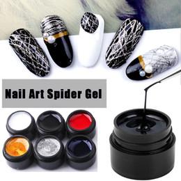 2019 chiodi di filo 8ml Spider Gel Nail Polish Web Painting Nail art creativo Gel UV Wire Drawing Elasticity Punto Line Soak Off Spider Varnish chiodi di filo economici