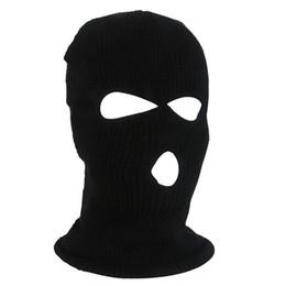 2019 máscara de esqui do exército Exército Tático Inverno Quente Esqui Ciclismo 3 Buraco Cap Balaclava Cap Máscara Facial Completa desconto máscara de esqui do exército