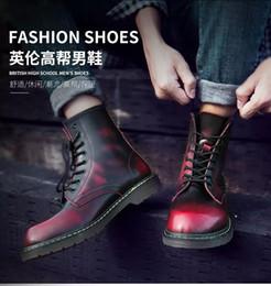 Billige herbststiefel online-2019 günstige Männer Schuhe Mode Winter Warme Turnschuhe Herren Stiefel Herbst Schuhe Für Mann Hohe Knöchel Leinwand Freizeitschuhe martin Stiefel