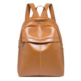 0f2fea1ee Mujeres retro pequeño Pu mochila de cuero Mujer al aire libre de viaje  Hebilla de la cremallera Mochila larga correa bolso bandolera bolsos  LJJQ406 rebajas ...