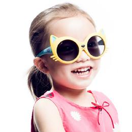 5a2ad77a7e 2018 kids Girls Boy 8 Colors Cartoon Cat Anti UV400 sunshade Eyeglasses  Toddler Baby infants Sunglasses children party supplies