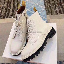 2019 mujeres del sexo botas negras 2019 Diseñador de mujer Bota de lujo Martin 100% cuero genuino Zapatos de invierno antideslizantes gruesos Star Trail Fashion Luxury Womens Designer Booties