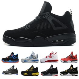 new products c01c8 18833 2018 tattoo 4 singles day 4s männer basketballschuhe pure money premium  schwarze katze weißer zement brut feuer rot alternative sportschuhe  turnschuhe retro ...