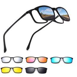 478bcb2671169c Polarisierte Sonnenbrille Männer Frauen 5 In 1 Magnetischen Clip Auf Brille  TR90 Optische Brillen Brillenfassungen Brillen 8803 clip brillengläser  Angebote