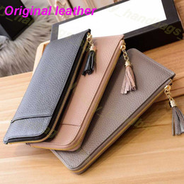 Designer weibliche brieftaschen online-Designer Brieftasche Frauen Geldbörse Reißverschlusstasche Weibliche Designer Brieftasche Geldbörse Mode Kartenhalter Tasche Lange Quaste Brieftasche mit Box