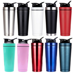 sport shakes Coupons - 750ml Insulated Vacuum Shake Cup 304 Stainless Steel Sports thermos Protein Drinkware Coffee Mugs wotter bottle LJJA2989