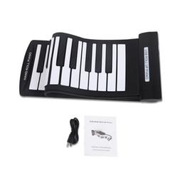 2019 rollen usb Portable 61 Keys Flexibles Roll-Up-Piano USB-MIDI-Keyboard für die elektronische Handrolle rabatt rollen usb