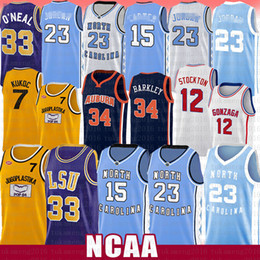 Schwarze gelbe trikots online-23 Michael Vince JD Carter Basketball Jersey Shaquille Charles O'Neal Toni Kuquoc John Barkley Charles Stockton Barkley North Carolina State