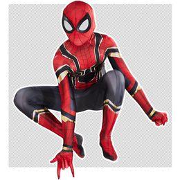 Trajes de spiderman para niños online-araña de hierro disfraces de Halloween los niños adultos KSS354 cabritos del traje de superhéroes Marvel Cosplay ropa de fiesta de Halloween Los niños del hombre araña de ropa