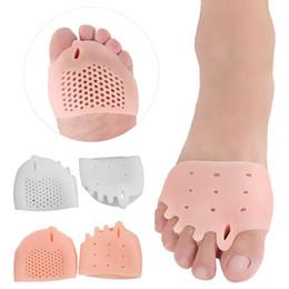 подошва для ног Скидка 2шт / пара Силиконовые удобные брекеты на ногах 5-луночные бородки на ногах ортопедические стельки для ухода за ногами Сплошной цвет подошвы колодки
