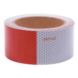 Fita reflexiva branca on-line-5cmx9m Noite Reflective Tape DIY conspicuity Trailers Marcação High Intensity segurança Aviso impermeável adesivos Vermelho Branco