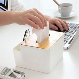 copertura in plastica a distanza Sconti Creative Desktop Bookbox Home Living Room Scatola di immagazzinaggio di telecomando di plastica semplice Scatola di tessuto di copertina di bambù creativa della scatola di libro