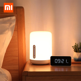 Tavoli wifi online-Xiaomi Mijia Lampada da comodino 2 Smart Table LED Night Bluetooth WiFi Touch Panel Control mihome APP Led per Apple HomeKit Siri