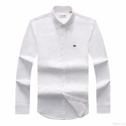 Envío de la gota 2018 19 Otoño Hombre manga larga Slim Fit Camisas Hombres Marca POLO Camisas Moda 100% Oxford Camisa Casual Pequeño caballo Clot desde fabricantes