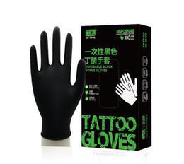 100pcs alta qualidade / caixa descartáveis preto de borracha nitrílica luvas duráveis luvas tatuagem industriais DHL livre de Fornecedores de bonés de bordados 3d