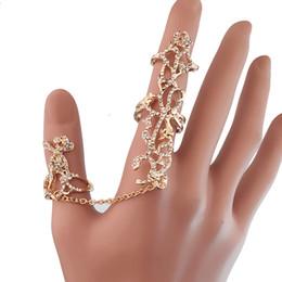 2019 verbundene ringe 2 Farbe europäischen und amerikanischen verbunden Persönlichkeit Ring Rosenwasser Bohrer Einsatz Bohrer ausgehöhlt Einhanddekoration kann Ring einstellen günstig verbundene ringe