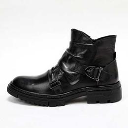 sapatos casuais casual zipper Desconto Mens Designer Martin Botas Student Moda Casual moda britânica retro Vento Side Zipper Curto Botas Marca Flat Shoes Casual Top Quality
