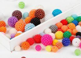 cor pérolas para artesanato Desconto 500 pçs / lote cor misturada 12mm ABS imitação de pérolas Beads Rodada ABS Plastic Beads Artes Artesanato DIY Vestuário Costura Tecido Garment Beads