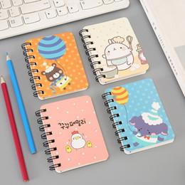 bloco de notas do gato Desconto Journey Diário Cadernos Do Escritório Dos Desenhos Animados Animais Espiral Mini Notebook Impresso Bonito Rosto Do Gato Estudantes Notebook Coil Notepad BH1511 TQQ
