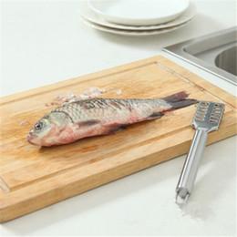 Nueva TALA ESCALADOR de pescado con mango en forma de peces Removedor Descalcificador