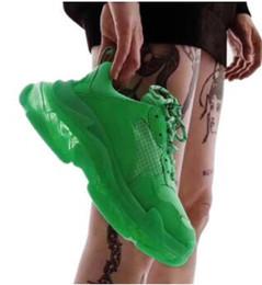 Mulheres hip hop sapatos on-line-2019 hip hop verde sapatos plataforma sapatos casuais senhoras da forma espessa pai sapatos mulheres moda fundo grosso senhoras de mulheres