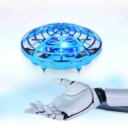ab8d3a7589 Fun Hand-Controlled USB Charging Flying Ball Four-Axis Mini Aircraft IR  Interactive Infrared Induction 360 Rotating LED Light